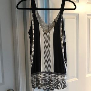 Anthropologie black and white tank